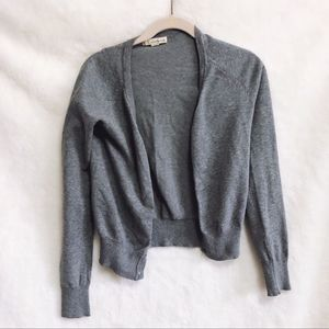 Forever 21 Gray Long Sleeve Button Cardigan